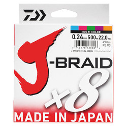 DAIWA - Daiwa J-Braid 8B 500M Multi Color İp Misina