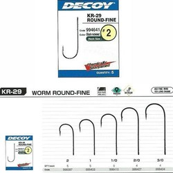 Decoy - Decoy KR-29 Worm Round Fine Black Nickel Olta iğnesi