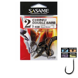 Sasame - Sasame F-838 Chinu Double Barb Black Nickel İğne