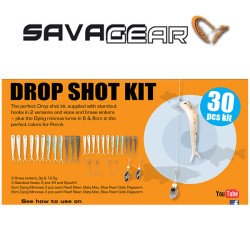 Savage Gear - Savage gear Dying Minnow Drop Shot Pro Pack Kit 30 Adet NL Suni yem