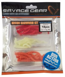 Savage gear - Savage gear Lrf Ragworm Kit 18+2 Adet (UV-Red-Pink-Glow)