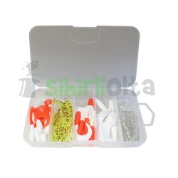 SO Fishing - SO Fishing Orak Kuyruk Silikon Set 6 Cm (25 Adet)